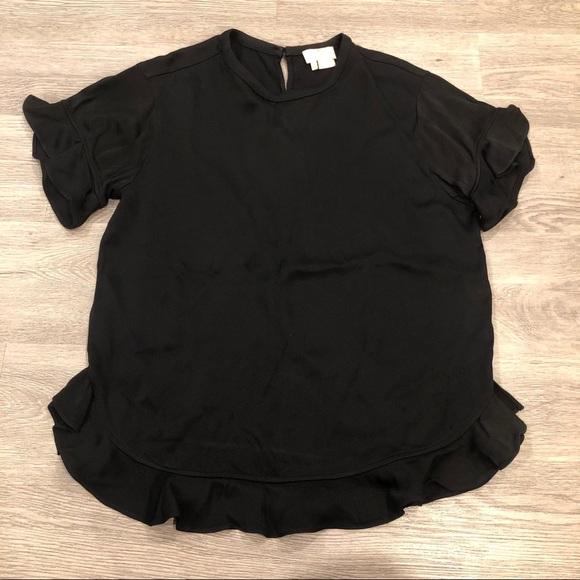 kate spade Tops - Kate Spade Ruffle Short Sleeve Blouse Size S